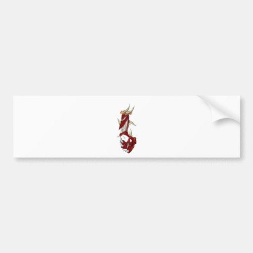 Pequeño demonio etiqueta de parachoque