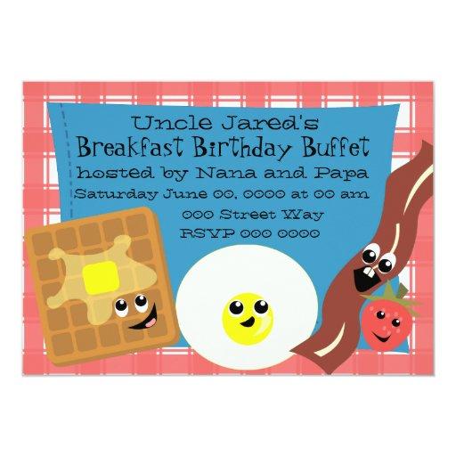 """Pequeño desayuno feliz invitación 5"""" x 7"""""""