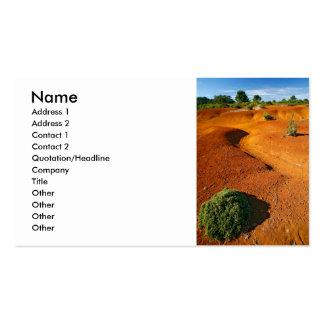 Pequeño desierto plantilla de tarjeta personal