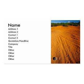 Pequeño desierto tarjeta personal