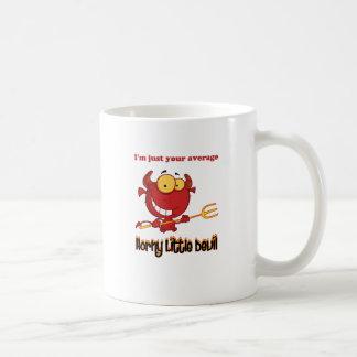 Pequeño diablo córneo taza de café