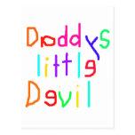 Pequeño diablo de Daddys Tarjeta Postal