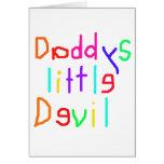 Pequeño diablo de Daddys Tarjetón