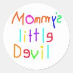 Pequeño diablo de Mommys Etiquetas