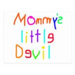 Pequeño diablo de Mommys Tarjetas Postales