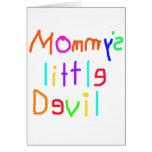 Pequeño diablo de Mommys Tarjeton