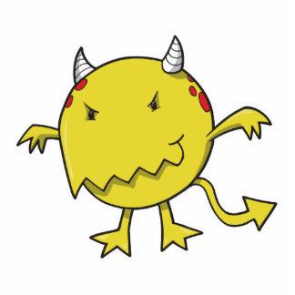 pequeño diablo dentro del amarillo escultura fotografica
