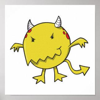 pequeño diablo dentro del amarillo impresiones