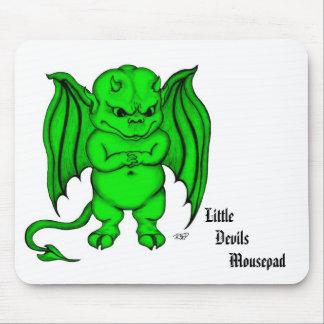 Pequeño diablo desagradable mouse pads