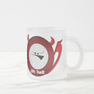 Pequeño diablo gruñón tazas de café