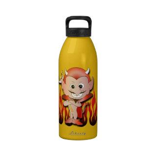 Pequeño diablo lindo botellas de beber