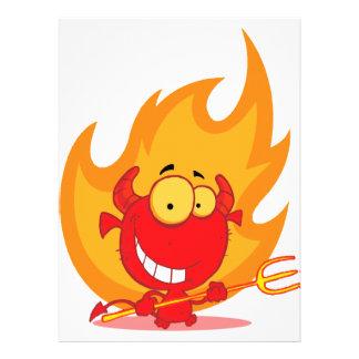 pequeño diablo lindo con el dibujo animado de las comunicados