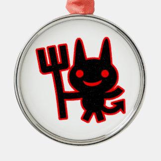 Pequeño diablo lindo ornamento para arbol de navidad