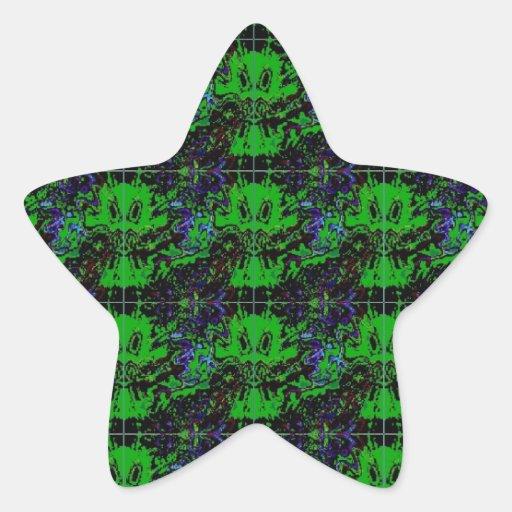 Pequeño diablo verde calcomanias forma de estrella