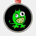 Pequeño diablo verde ornamentos de reyes