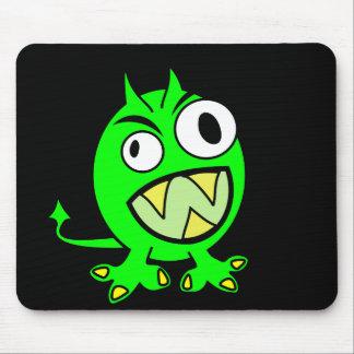 Pequeño diablo verde tapete de raton