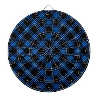 Pequeño diamante de cuatro bandas - azul en negro tabla dardos