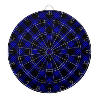 Pequeño diamante de cuatro bandas - azul en negro tablero dardos