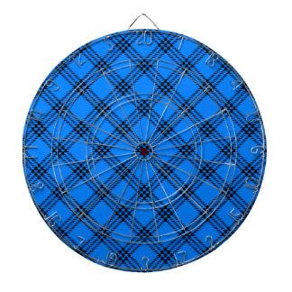 Pequeño diamante de cuatro bandas - negro en azul tablero de dardos