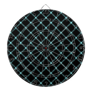 Pequeño diamante de dos bandas - azul eléctrico en tablero de dardos