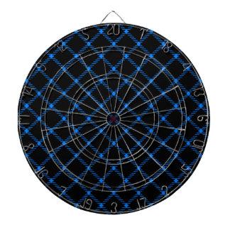 Pequeño diamante de dos bandas - azul en negro tablero dardos