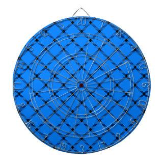 Pequeño diamante de dos bandas - negro en azul tablero dardos