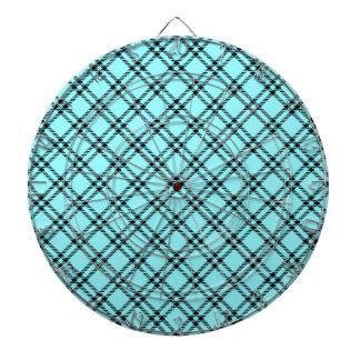 Pequeño diamante de tres bandas - negro en azul el tablero de dardos