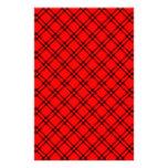 Pequeño diamante de tres bandas - negro en rojo papelería