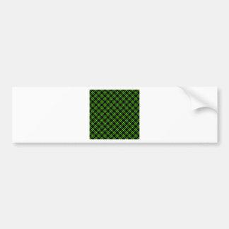 Pequeño diamante de tres bandas - verde claro en n pegatina para auto