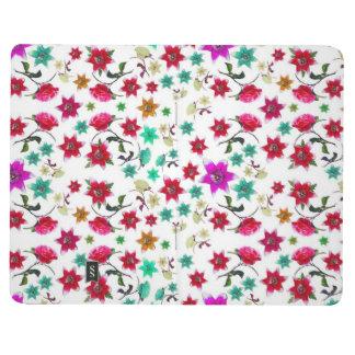 Pequeño diario colorido del bolsillo de las flores cuaderno grapado