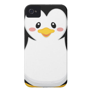 pequeño dibujo animado dulce lindo del pingüino Case-Mate iPhone 4 funda