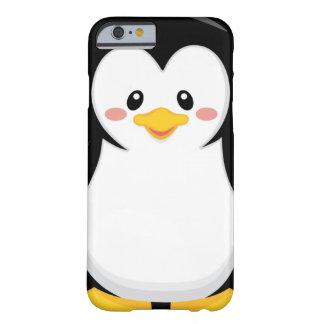 pequeño dibujo animado dulce lindo del pingüino funda de iPhone 6 barely there