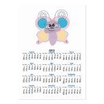pequeño dibujo animado lindo de la mariposa del tarjetas de visita grandes