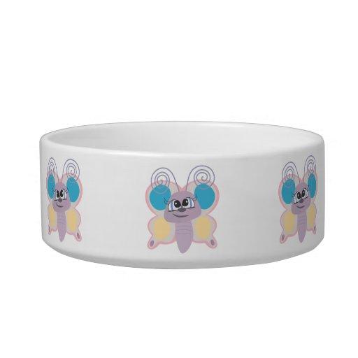 pequeño dibujo animado lindo de la mariposa del ve tazón para agua para gatos
