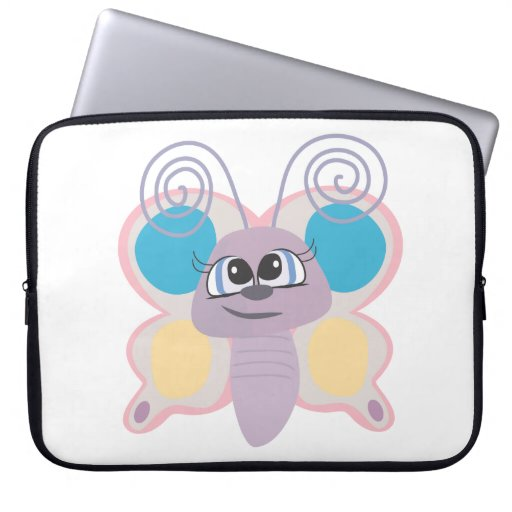pequeño dibujo animado lindo de la mariposa del ve manga computadora
