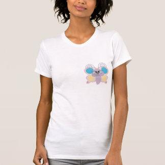 pequeño dibujo animado lindo de la mariposa del ve camiseta