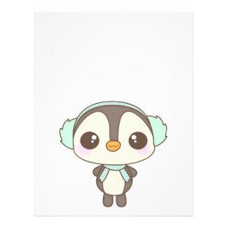 pequeño dibujo animado lindo del pingüino del día  flyer a todo color