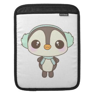 pequeño dibujo animado lindo del pingüino del día  manga de iPad