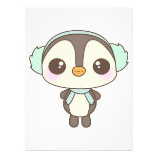 pequeño dibujo animado lindo del pingüino del día invitación personalizada