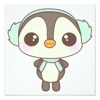 pequeño dibujo animado lindo del pingüino del día anuncios personalizados