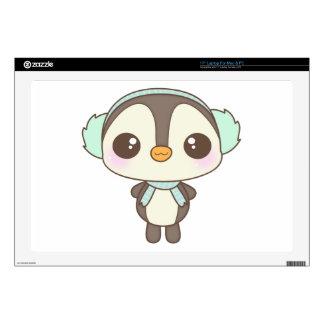 pequeño dibujo animado lindo del pingüino del día  skins para 43,2cm portátiles
