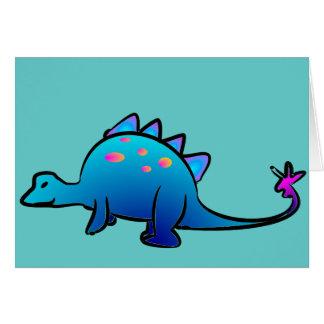 Pequeño Dino azul Tarjetón