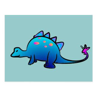 Pequeño Dino azul Postales