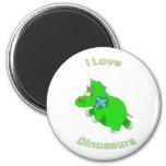 pequeño Dino verde (dinosaurios del loce de i) Imán