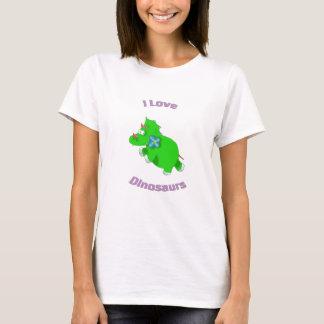 pequeño dinosaurio verde (dinosaurios del amor de playera