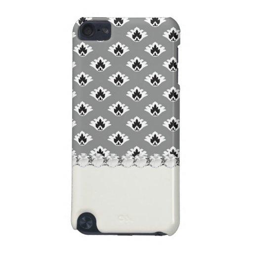 pequeño diseño blanco y negro gris del modelo del  carcasa para iPod touch 5