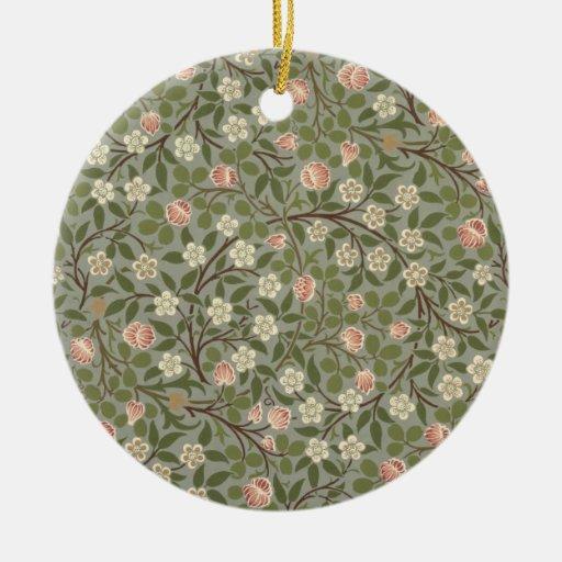 Pequeño diseño del papel pintado de la flor rosada ornamento para arbol de navidad