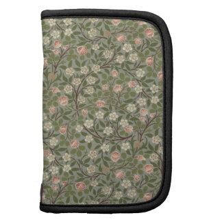 Pequeño diseño del papel pintado de la flor rosada organizador