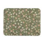 Pequeño diseño del papel pintado de la flor rosada imanes flexibles