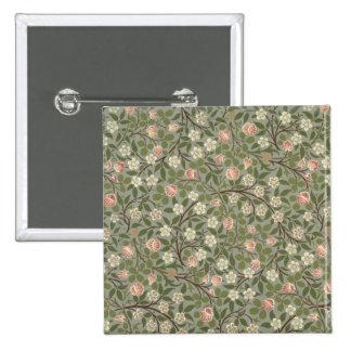 Pequeño diseño del papel pintado de la flor rosada pin cuadrado